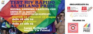 22/23/24 /6/2017 – TEST HIV RAPIDO AL MILANOPRIDE