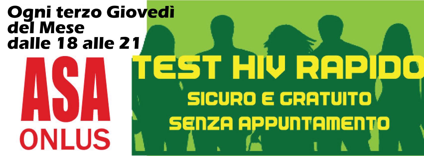 TEST HIV RAPIDO IN SEDE . sospensione momentanea